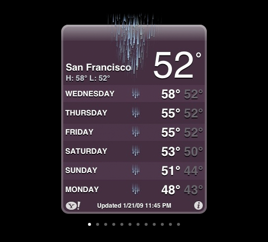 Iphone weather block